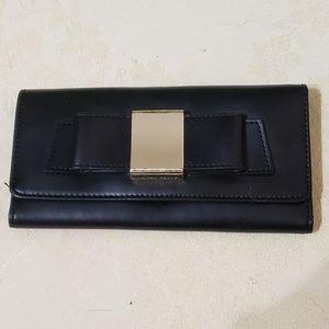Ivanka Trump Tri-Fold Black Bow Front Wallet